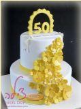 עוגה לחתונת הזהב של זוג מקסים