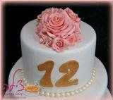 עוגת הבת מצווה של הדר, תקריב של הפרחים