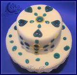 עוגת תכשיטים מתוקים - מבט מלמעלה
