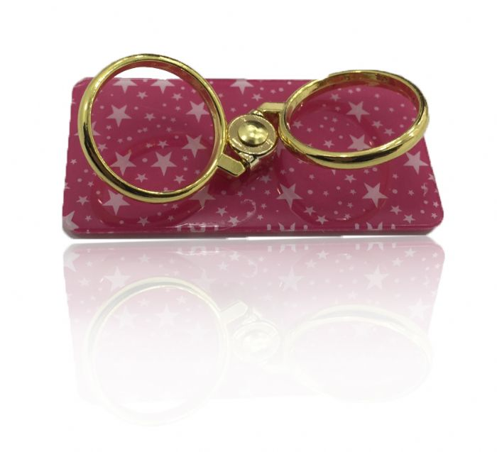 Safety Rings Gold With Pink Stars