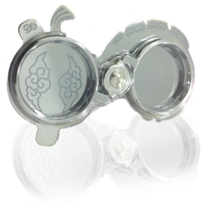 Safety Rings Silver With Flowers