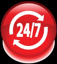 לוגו 24 שעות על 7 ימים