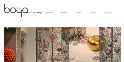 בניית אתר לחברת boya design