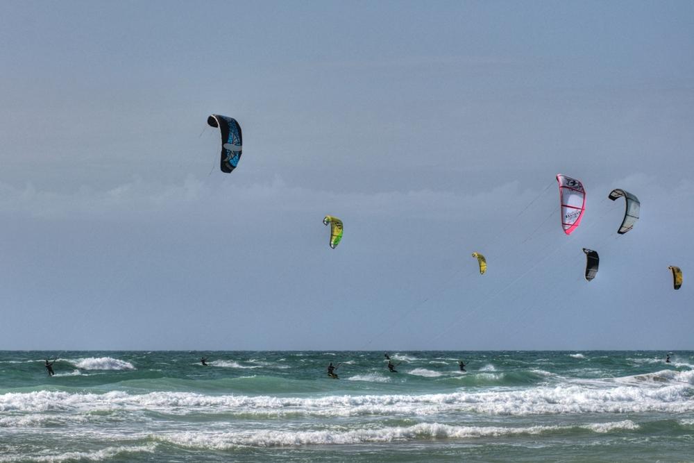 גלישה עם מצנחים בחוף בית ינאי - תמונות בחינם ללקוחות Webfocus