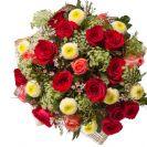זר ורדים ואסטר
