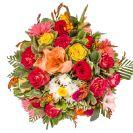 זר אהבה ורדים וגרברות