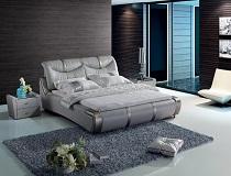 מיטה אפורה דמויית עור דגם BN-SBT-5839