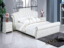 מיטת יוקרה קלאסית לבנה דגם B-675