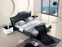 מיטה שחורה דמויית עור דגם BN-SBT-5830