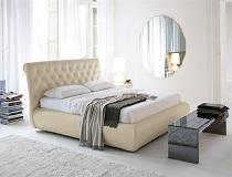 מיטת עור שמנת דגם BB-E050