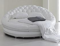 מיטת עור עגולה BB-J1051
