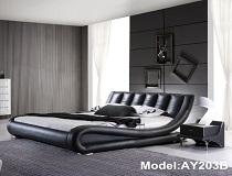 """מיטת דמוי-עור דגם """"ברבור ב"""" A-AY203B"""