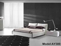 """מיטת דמוי-עור דגם """"סנדרה"""" A-AY300"""
