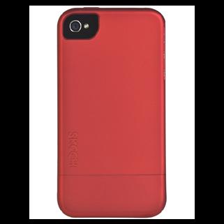 Hard Rubber אדום ל iPhone 4/4s