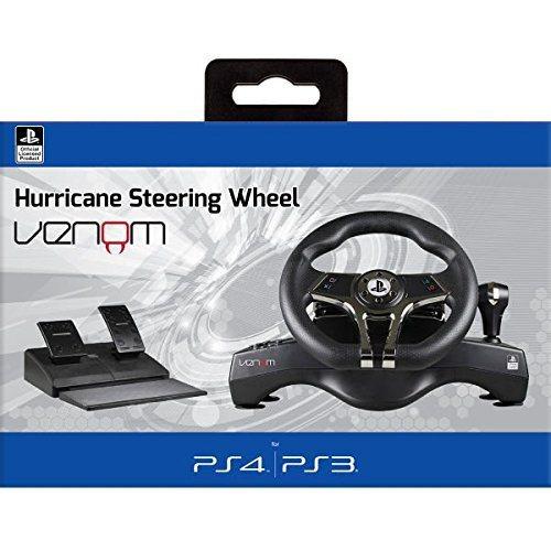 הגה מרוצים ודוושות Venom Hurricane Steering Wheel