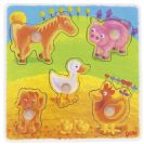 GOKI פאזל כפתורים בעלי חיים ביתיים 57512