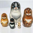 בבושקה מטריושקה- מטרושקה חתול 1045