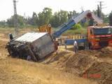 התמקמות לחילוץ משאית - כביש 6
