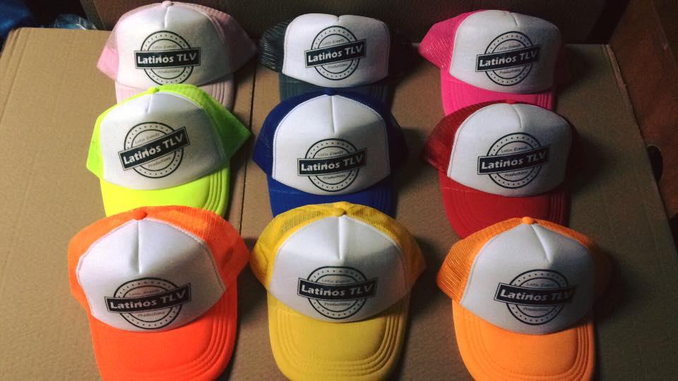 מבחר כובעי רשת בצבעים להדפס
