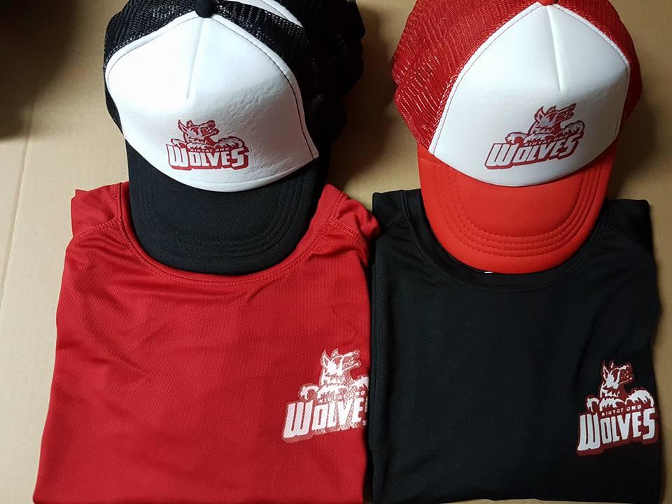 כובעי רשת אדום שחור למיתוג עסק