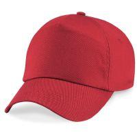 כובע בייסבול אדום מוכן להדפסה