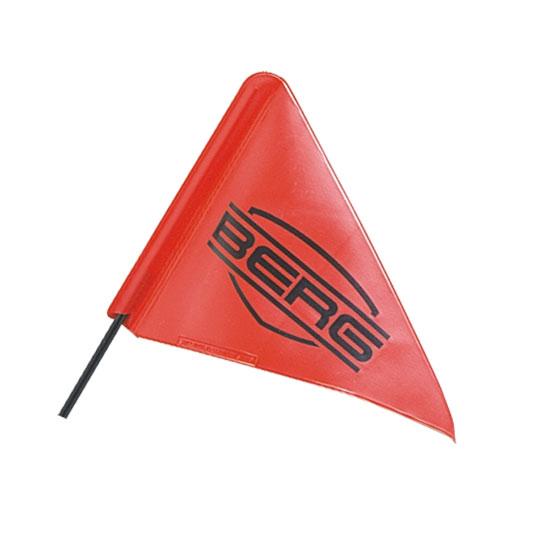 דגל עם לוגו ברג המתחבר למכוניות פדלים
