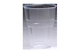 כוס פלסטיק קריסטל 250cc