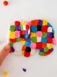 הדרכת יצירה עם פלסטלינה בנצי הפיל
