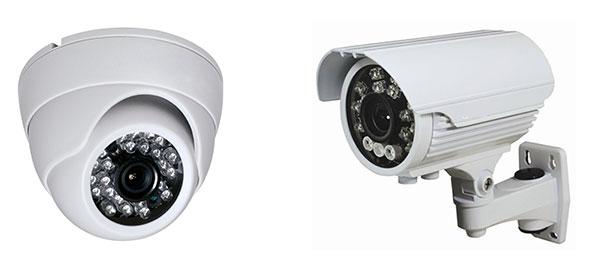 מצלמות אבטחה כיפה וצינור