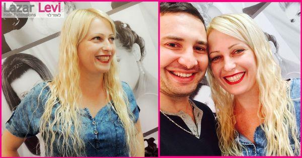 מילוי שיער בלונד תמונות לאזר לוי תוספות שיער