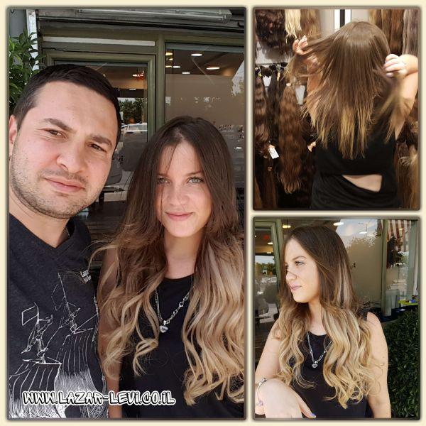 מילוי והארכת שיער תמונות לפני ואחרי-לאזר לוי