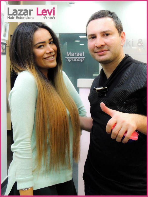 הארכת שיער אומברה | תוספות שיער לאזר לוי