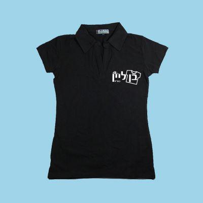 חולצת לייקרה נשים צווארון פולו