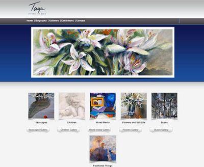 בניית אתר לאמנית TAYA