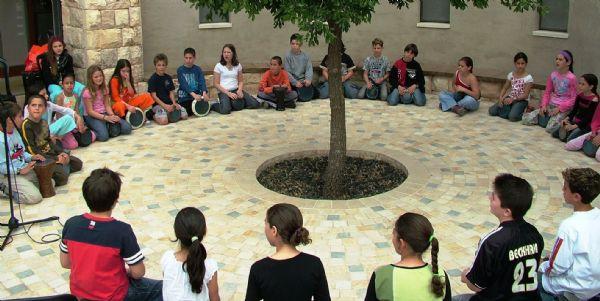 מעגל מתופפים לילדים בבית