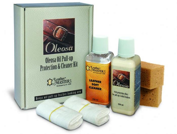 שמן לשימור עורות מסוג Pull Up   מעלים שריטות   Oleosa Leather Care Kit - Leather Master Italy