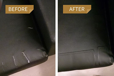 תיקון קרע בסלון