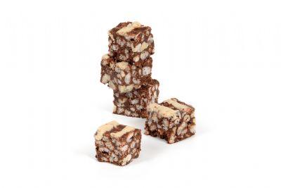 עוגיות חטיפי שוקולד ופצפוצים ללא תוספת סוכר