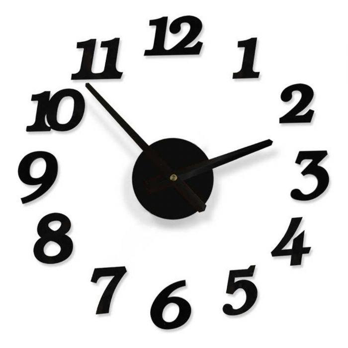 שעון קיר מדבקה מעוצב
