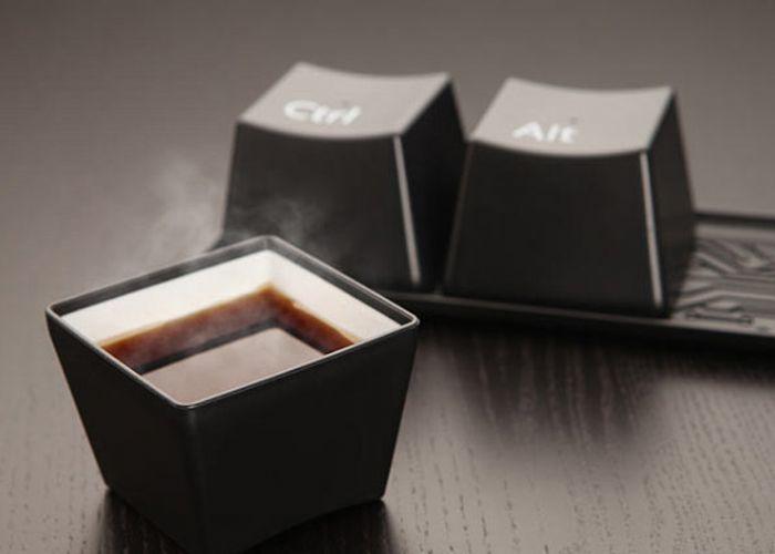 סט כוסות מעוצב מקלדת מחשב