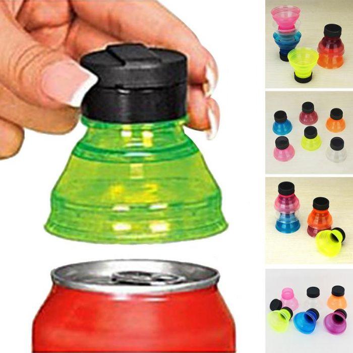 סט 6 מתאמים מפחית לבקבוק