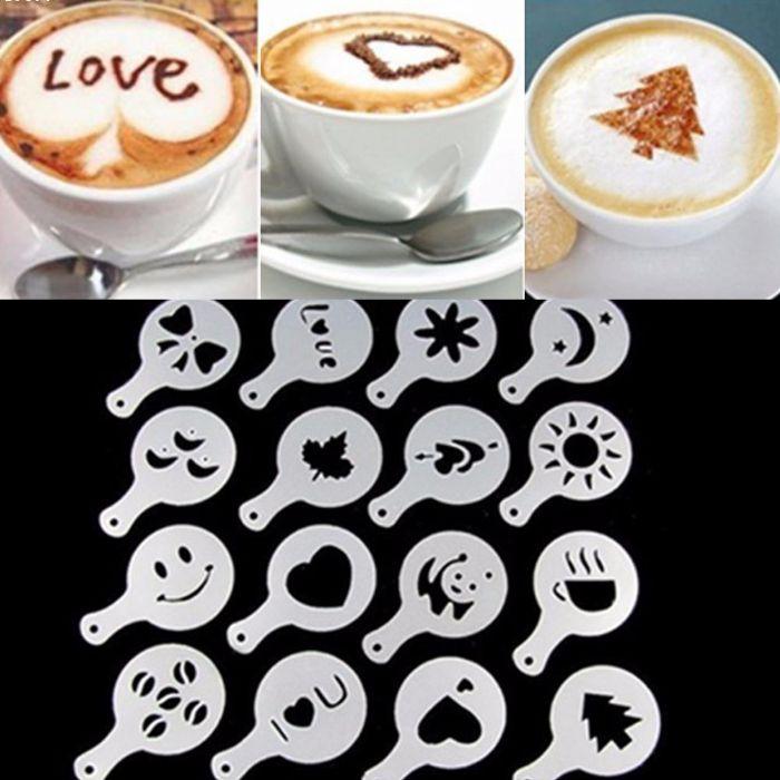 שבלונות לעיצוב כוס הקפה