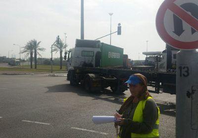 סקר משאיות בשער הנמל