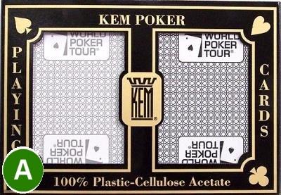 קלפים KEM WPT פלסטיק איכותי לטורניר פוקר
