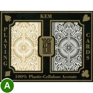 קלפים KEM פלסטיק שחור ARROW לפוקר 21