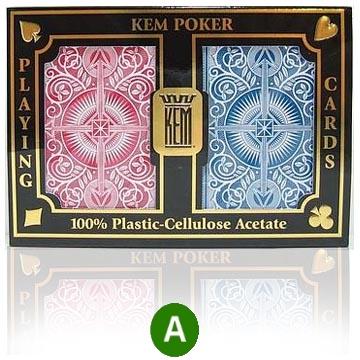 קלפים KEM פלסטיק איכותי ARROW לפוקר 21