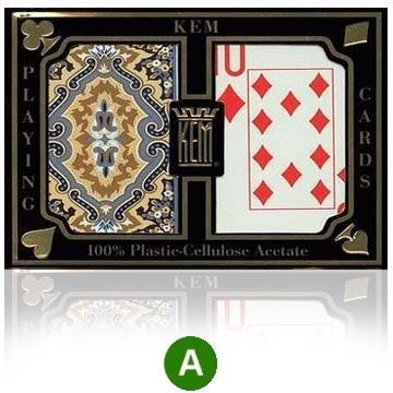 אזל, קלפים KEM פלסטיק איכותי למשחק פוקר 21