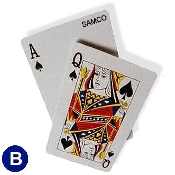 אזל, קלפים SAMCO פלסטיק למשחק פוקר בלק ג'ק 21