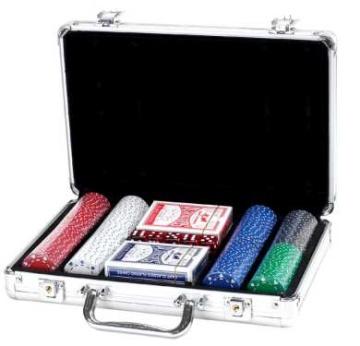 """זמנית אזל, מזוודה איכותית לפוקר 200 ז'יטון 11.5 ג""""ר סוט"""