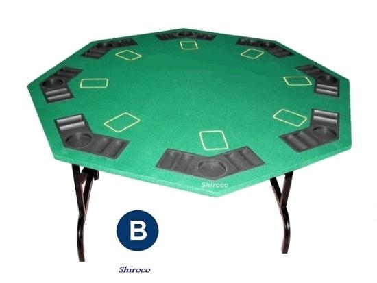 שולחן פוקר קלפים 1.22 מתומן